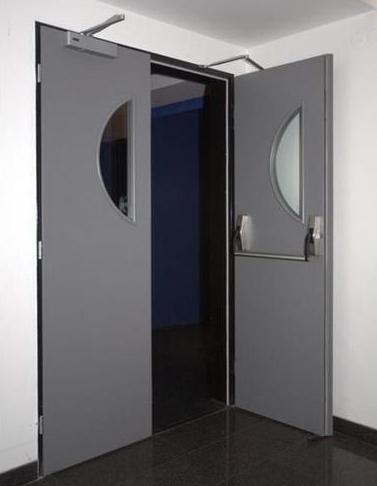 двустворчатые дверь в подъезд железная